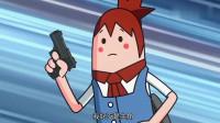 搞笑吃鸡动画:萌妹好歹也是主角,一出场就被吓趴在地,这编剧也太坏了