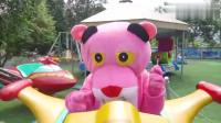 趣味游戏,可爱小马推着巨大玩具球