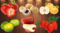 学习认识草莓等新鲜美味水果,乐宝识水果