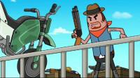 搞笑吃鸡动画:霸哥飞车绝技配合信仰之跃击杀敌人,这波操作帅呆了