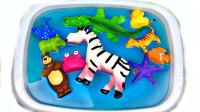 海洋动物们的游乐场玩具