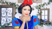 当女子将自己美妆打扮成白雪公主,你觉得有几分相像?