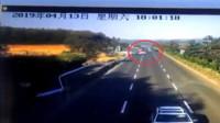 胆大女司机横穿高速逆行九公里 一路逼停多车