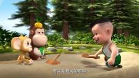 熊熊乐园:光头强要垒一个最大的城堡,吉吉说熊二吹牛!