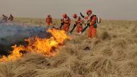 内蒙古呼伦贝尔突发俄罗斯,蒙古入境火,消防战士正在扑救中。