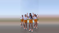 5位穿着清凉的小姐姐,一起跳广场舞《狂浪》,漂亮啊!