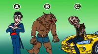 脑力测试:吸血鬼,狼人和僵尸,三只怪物里谁最穷?