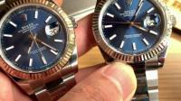 真假对比:AR超级904L日志型蓝面 对比正品126334
