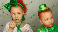 国外妈妈为儿女美妆:将他们打扮成了圣帕特里克节小妖精