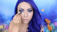 国外女子化妆秀:仿妆海底总动员美人鱼!