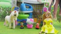 小猪佩奇小马宝莉搅拌机芭比娃娃凯蒂猫彩泥