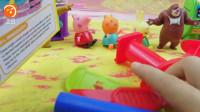 小猪佩奇彩泥冰淇淋 芭比娃娃熊熊乐园小伶玩具