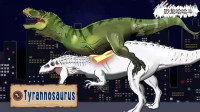 霸王龙以一敌三被偷袭 恐龙动漫特效