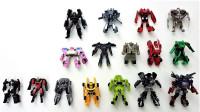 16个迷你版变形金刚擎天柱大黄蜂等机器人变形玩具
