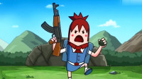 搞笑吃鸡动画:萌妹玩游戏的人品真是太好了,一个人冲到敌方阵营都没死