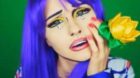 奇葩美女化妆秀:这副水彩漫画妆容你给打几分?