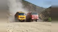 中国重汽和进口依维柯,重载30吨一档爬坡,实力不相上下!
