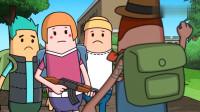 搞笑吃鸡动画:霸哥在萌新面前秀自己的游戏意识?然而却被敌人一波偷袭带走