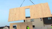 延时拍摄,一栋木结构的房子建造过程,跟搭积木一样速度真快