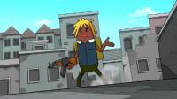 搞笑吃鸡动画:原来吃鸡战场上的烟雾弹还能这么用,马可波这操作我服了