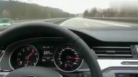 大众迈腾1.4T上了不限速高速公路,彪到200多迈疯狂超车