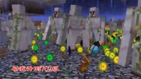 我的世界泰坦生物35:铁傀儡泰坦干掉烈焰人,助我升到702级