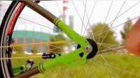 牛人发明不用链条的自行车,真佩服!