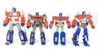 变形金刚不同系列的4款航海家级擎天柱机器人变形玩具