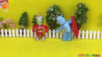 奥特曼和花园宝宝拼愤怒的小鸟拼图玩具视频