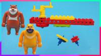 益智机械积木:熊熊乐园的陀螺加速器