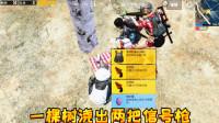 刺激战场:全图最幸运玩家,浇水一颗樱花树刷出两把信号枪太富了