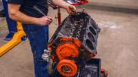 翻新修复一台雪佛兰V8发动机,全程高能,一看就知道是专业的