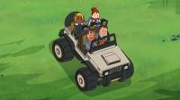 搞笑吃鸡动画:马可波奇思妙想,洼地里用翻倒的车做掩体,结果进得去出不来