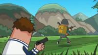搞笑吃鸡动画:瓦特上演螳螂捕蝉黄雀在后,没料到自己却是那个螳螂