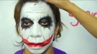 化妆高手将男友化妆成蝙蝠侠里的小丑,大家觉得这技术效果怎么样?
