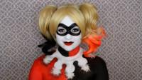 当女子将自己美妆打扮哈莉奎茵,你觉得有几分相像?