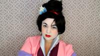 女子将自己美妆打扮成迪士尼花木兰,你觉得有几分相似?