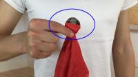 为什么硬币从手帕中间穿透,手帕完好无损?其实特简单