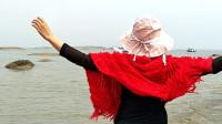 【任如意】带你去看海!都玩疯了!山东海滨快乐海浪舞再大的风浪都不怕