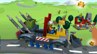 乐高城市 赛车游戏 23期多功能挖掘机 儿童玩具积木