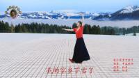 开心牡丹广场舞《我的家乡下雪了》(再版) 阿笨制作