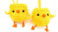 【团子手工】第8集--立夏小黄鸡蛋袋兜钩针新手教程