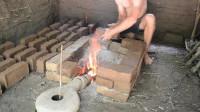 澳洲小哥 第44集 原始工艺烧制粘土砖