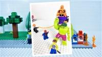定格动画-乐高城市故事之蜘蛛侠和绿巨人打败绿魔