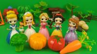 迪士尼小公主享受田园生活,每位小公主都有不小的收获!