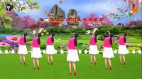 阳光美梅原创广场舞【站着等你三千年】优美三步舞-背面演示-编舞:美梅