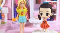 小琦拆芭比公主系列第3款奇趣蛋玩具 拆出时尚长发超短裙芭比 14