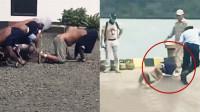 实拍:印尼狱警在布满砾石地面上拖行毒贩 监狱长被停职