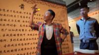 中国古彩戏法第五代传人牟衍铭,铁球穿进眼睛,太神奇了!