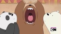 咱们裸熊:大胃王比赛开始,三兄弟都很能吃,厨房决定拿上终极大煎饼
